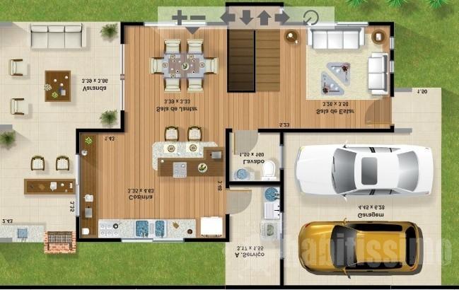 planos de casas de dos pisos modernas pequenas