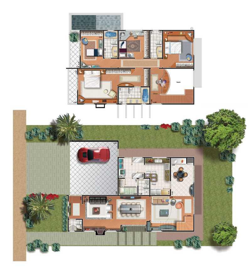 Plantas de casas pequenas e modernas fotos decorando casas for Fachadas para casas pequenas de una planta