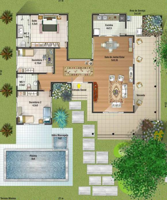 plantas-de-casas-pequenas-modernas