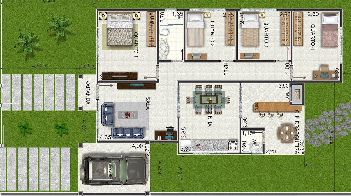 Plantas de casas pequenas e modernas fotos decorando casas for Plantas arquitectonicas de casas