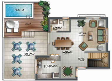 Plantas de casas pequenas e modernas fotos decorando casas for Plantas de casas tipo 3 modernas