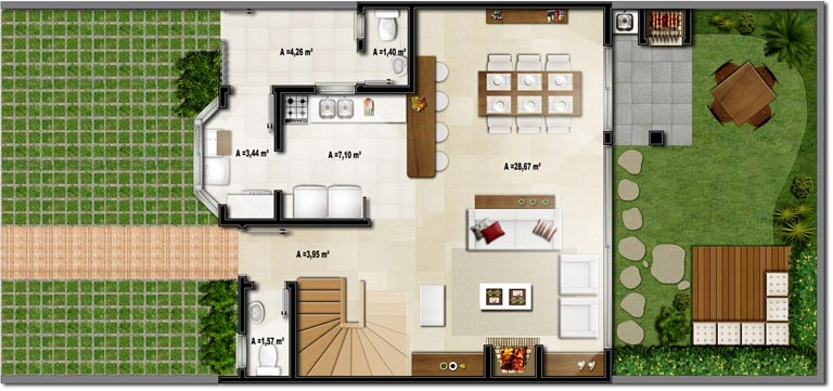 Plantas de casas pequenas e modernas fotos decorando casas for Modelos de casas modernas de una planta