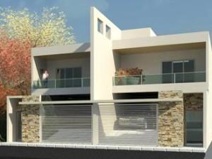 Arquivo para fachadas de casas geminadas decorando casas for Fachadas duplex minimalistas