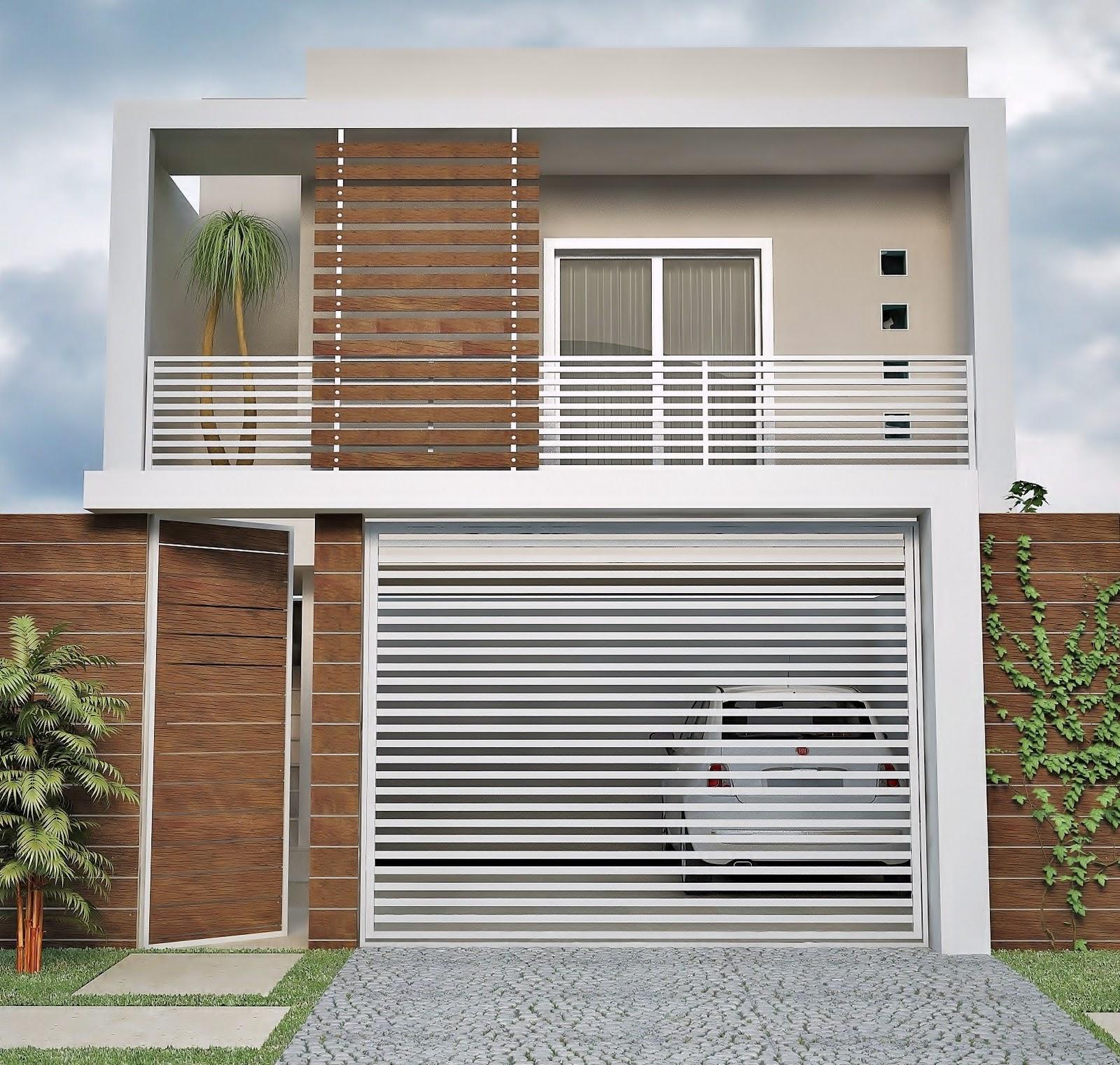 fachadas de casas pequenas garagem1jpg - Fotos De Fachadas De Casas