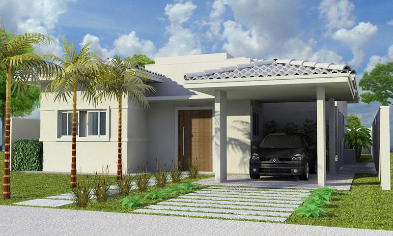 Fachadas de casas pequenas com garagem decorando casas for Antejardines de casas pequenas