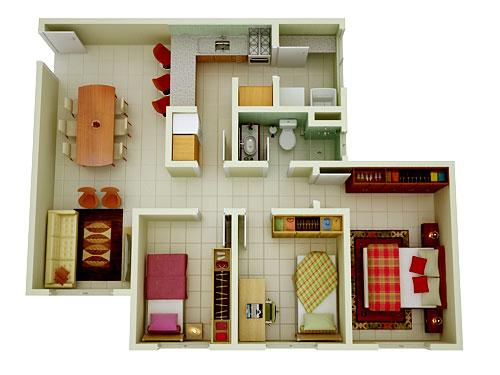 Plantas de casas em 3d gratis decorando casas for Modelos de casas de campo de una planta