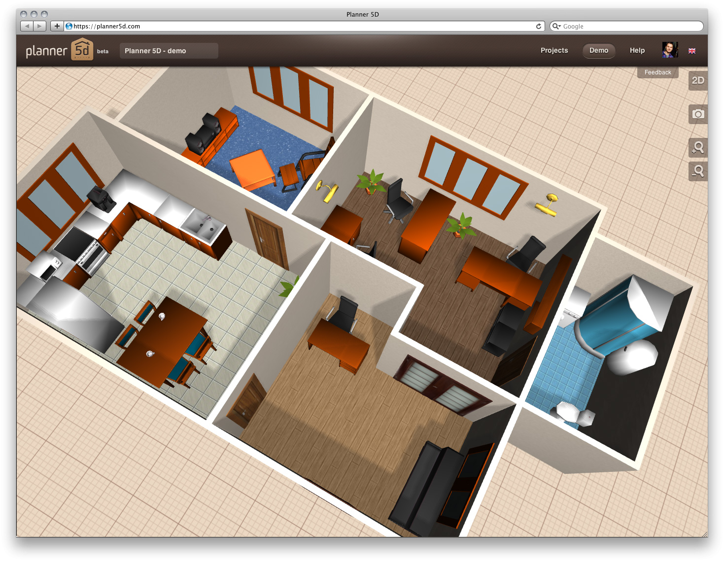 Plantas de casas em 3d gratis decorando casas for Como hacer un plano de una cocina