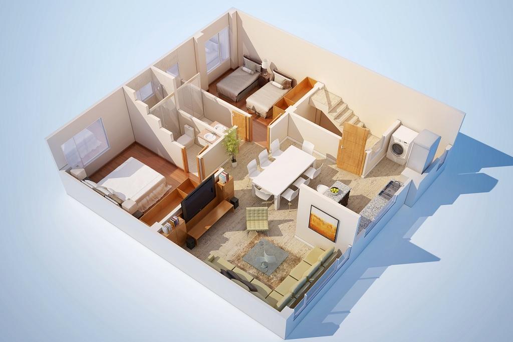 Plantas de casas em 3d gratis decorando casas for Plantas arquitectonicas de casas