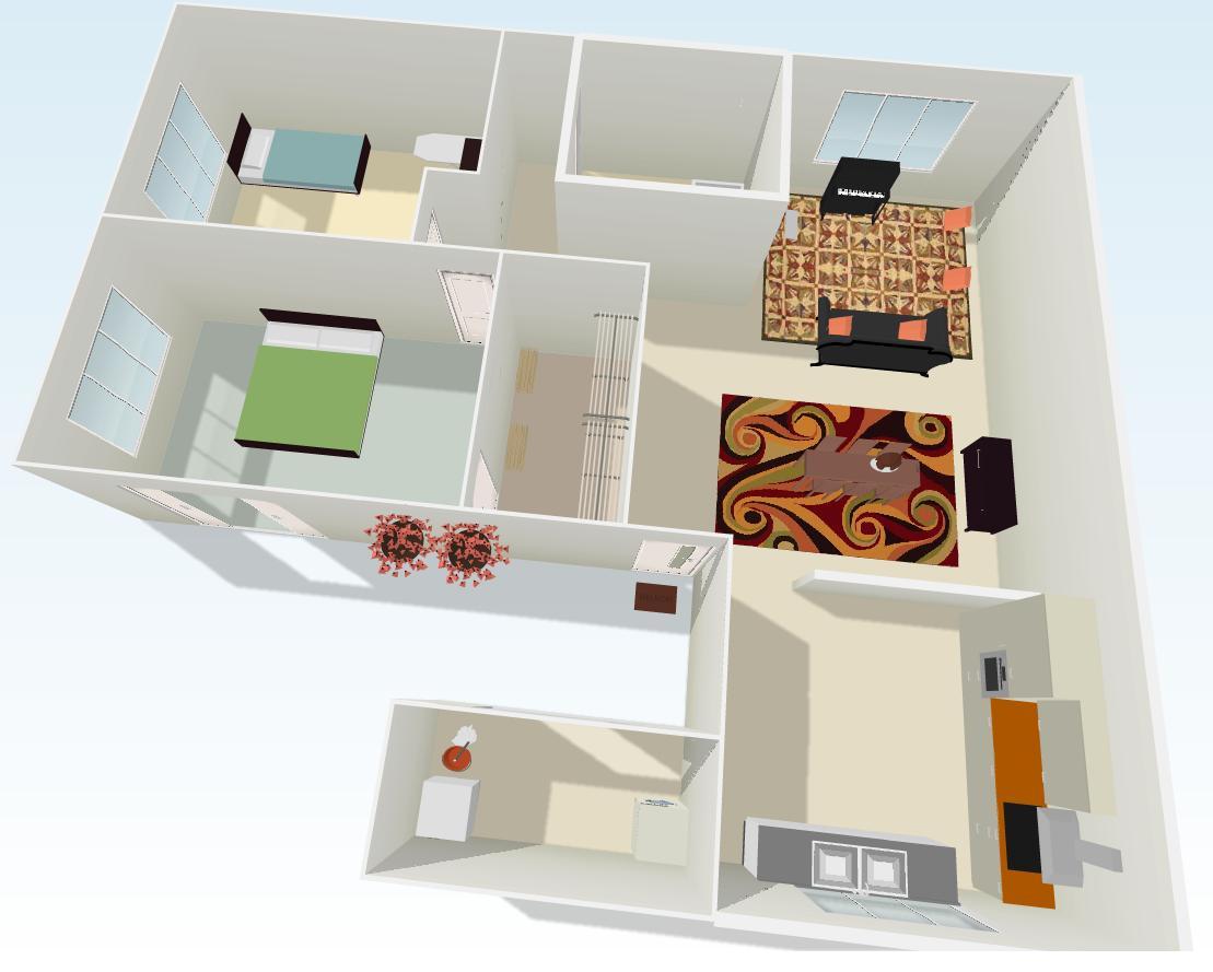 Plantas de casas em 3d gratis decorando casas for Decorando casa