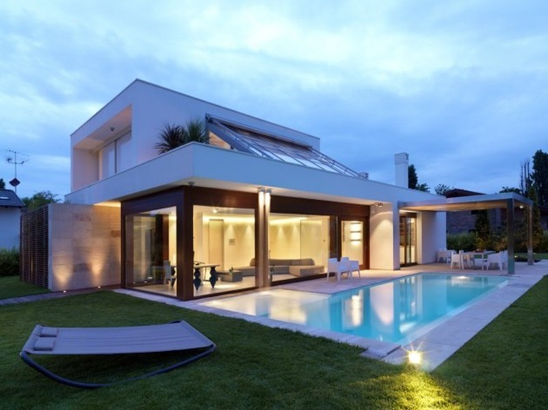 Fotos de fachadas de casas modernas e bonitas decorando for Belle case con piscine