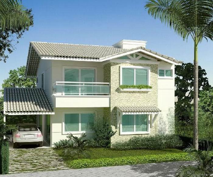 Fotos de fachadas de casas modernas e bonitas decorando for Fachadas para residencias