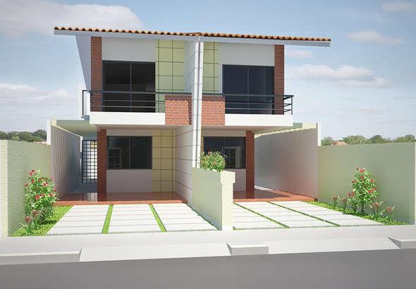 Fachadas de casas geminadas e modernas fotos decorando casas - Casas diseno moderno ...
