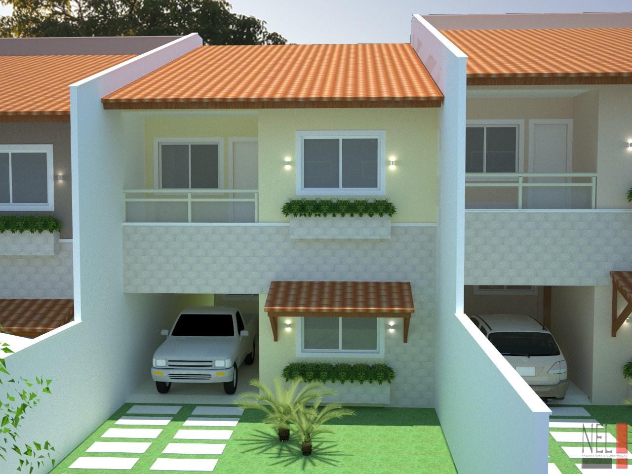 Fachadas de casas geminadas e modernas fotos decorando casas for Casas duplex modernas