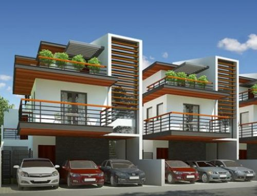 Fachadas de casas geminadas e modernas fotos decorando casas for Modelos de fachadas modernas