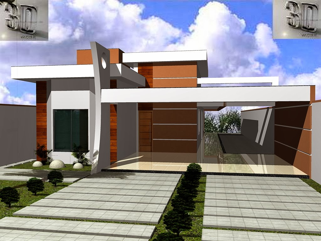 Fachadas de casas modernas 2014 fotos decorando casas for Modelo de fachadas para casas modernas