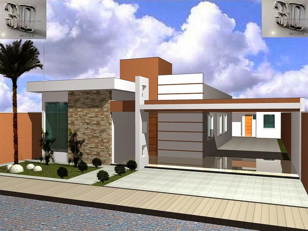 Fachadas de casas modernas 2014 fotos decorando casas for Casas modernas de 70m2