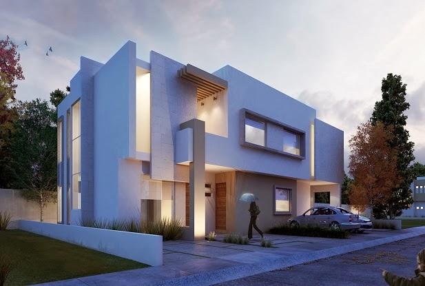 Fachadas de casas modernas 2014 fotos decorando casas for Fachadas contemporaneas para casas