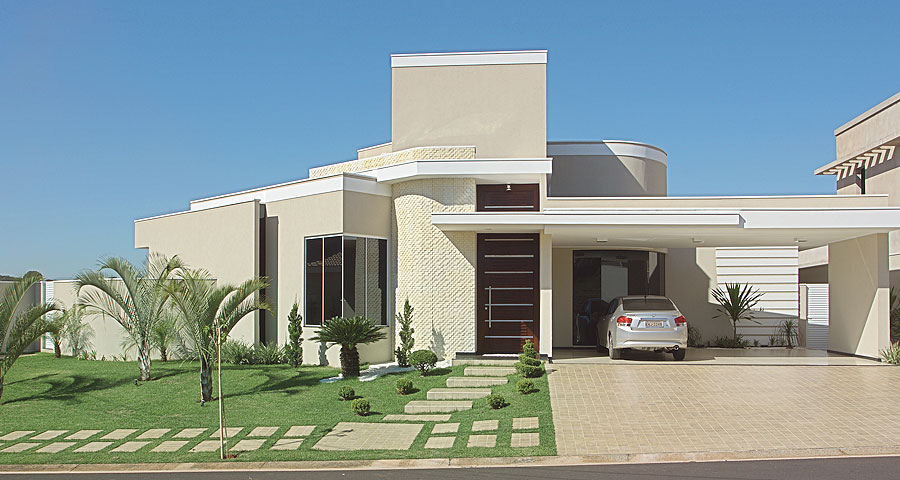 Fachadas de casas modernas 2014 fotos decorando casas Fachadas de entradas de casas modernas