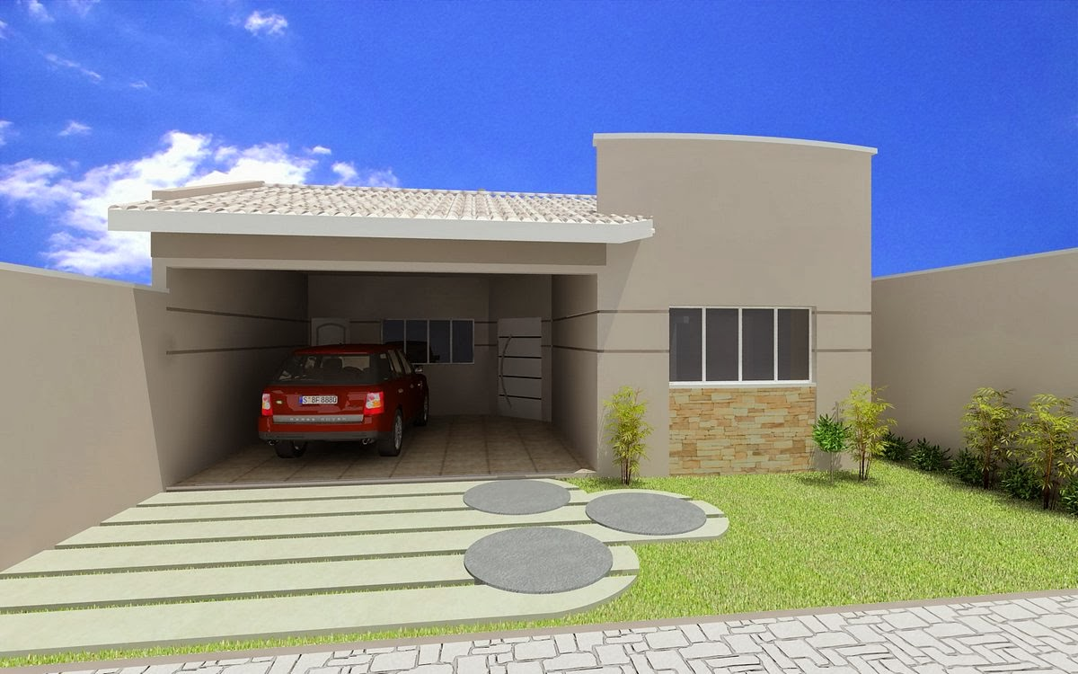 Fotos de fachadas de casas modernas e pequenas decorando for Fachadas frontales de casas modernas