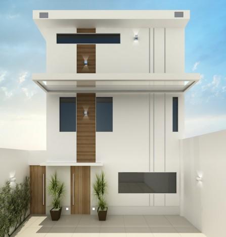 Fotos de fachadas de casas modernas e pequenas decorando for Viviendas minimalistas pequenas