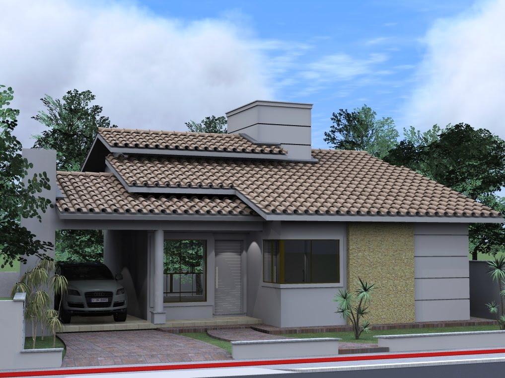 Casas pequenas e bonitas arquitetura planta e com fachadas for Modelo de fachadas para casas modernas