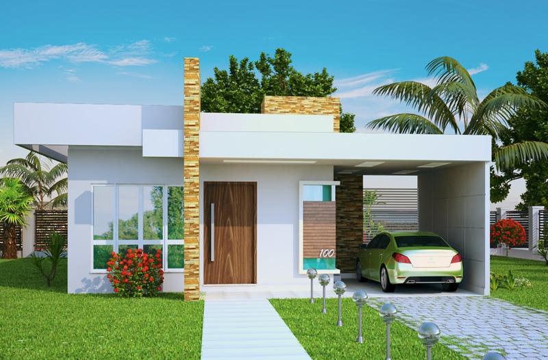 Fotos de fachadas de casas modernas e pequenas decorando for Modelos de fachadas modernas para casas