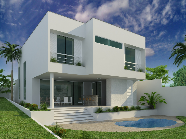 Fotos de fachadas de casas modernas e bonitas decorando for Fachadas para casas pequenas de dos pisos