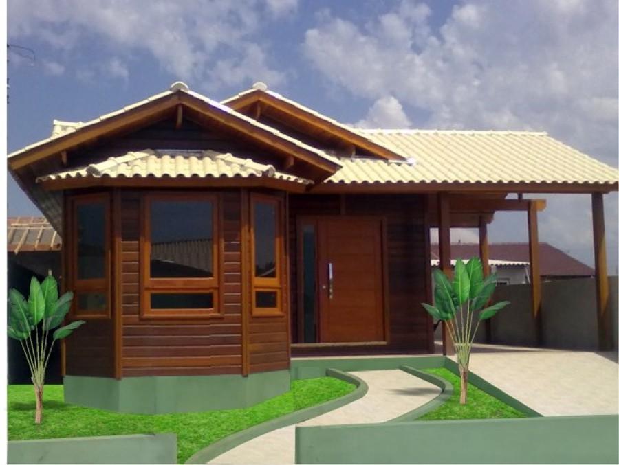 Fachadas de casas pequenas com varanda fotos decorando casas for Casas prefabricadas pequenas