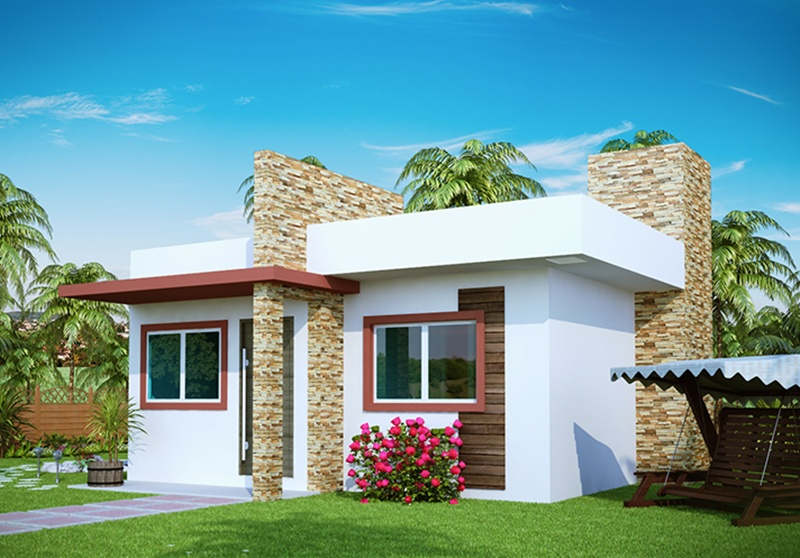 Fachadas de casas pequenas com varanda fotos decorando casas for Modelos de casas pequenas y bonitas