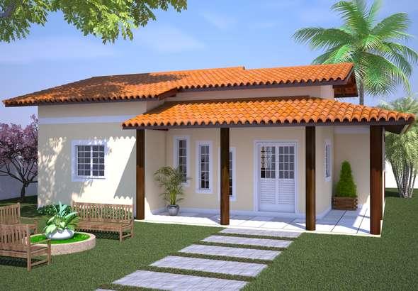 Fachadas de casas pequenas com varanda fotos decorando casas for Modelos de fachadas para casas