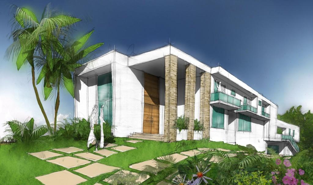 Fotos de fachadas de casas modernas e bonitas decorando for Fachadas de casas elegantes modernas