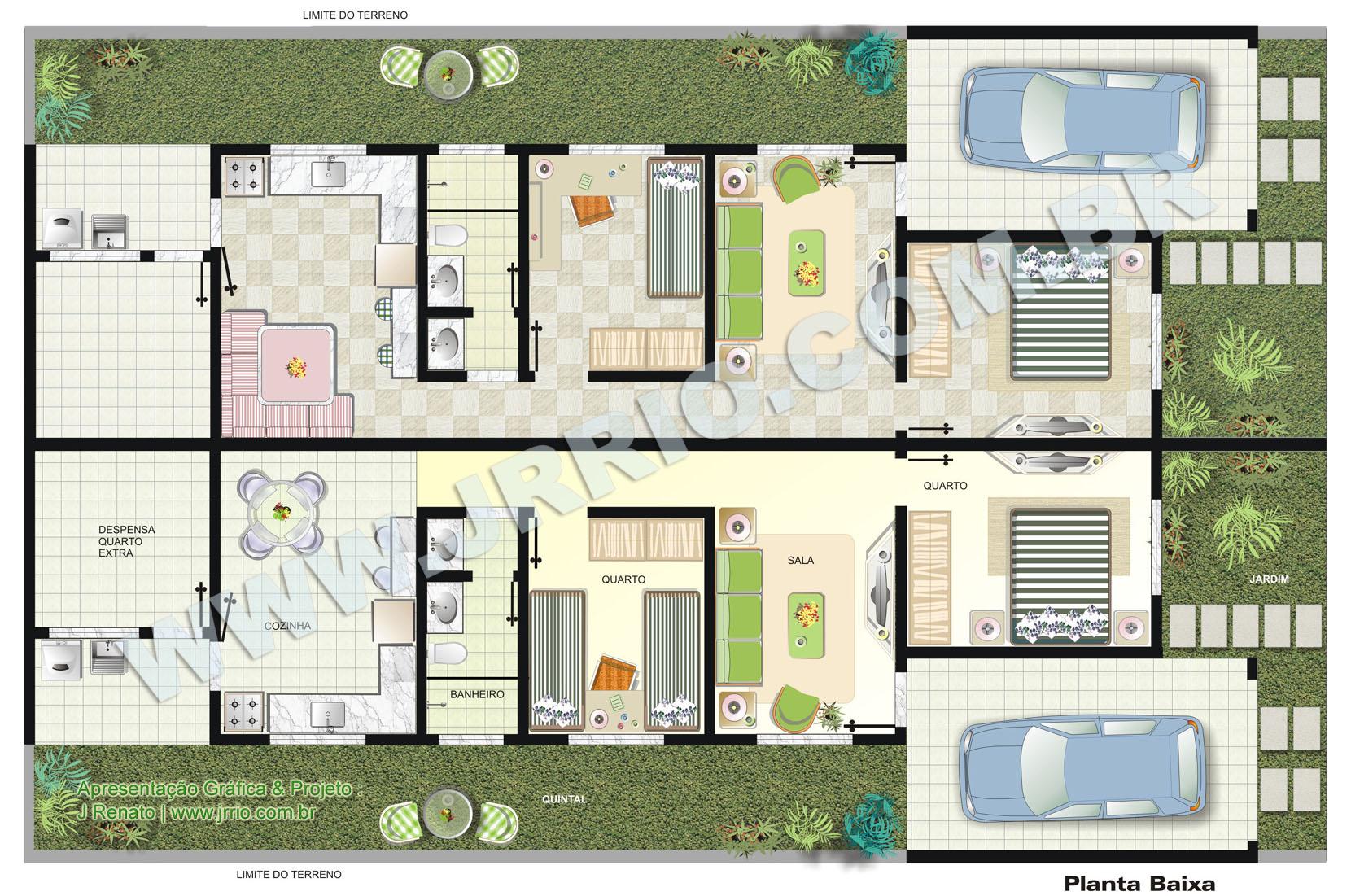 Plantas de casas geminadas gratis decorando casas for Casa moderna 90m2