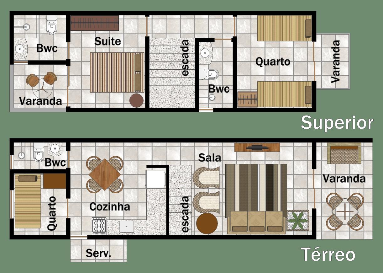 Plantas de casas geminadas gratis decorando casas for Modelo de casa 7 x 10
