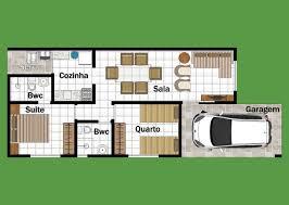 Plano de hermosa casa de dos plantas, tres dormitorios y