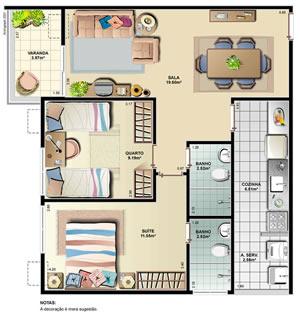 Moderna casa de dos plantas, dos dormitorios y 86 metros