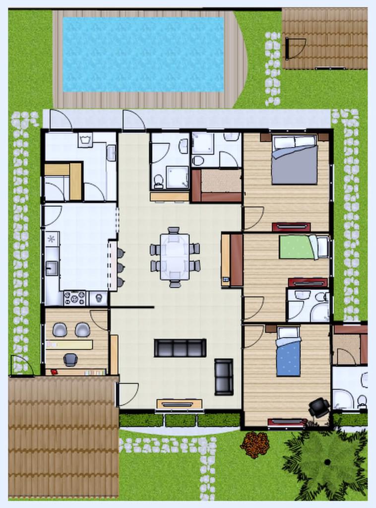 plantas-de-casas-com-3quartos