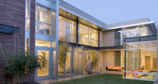 Fachadas De Casas Modernas Com Vidros Decorando