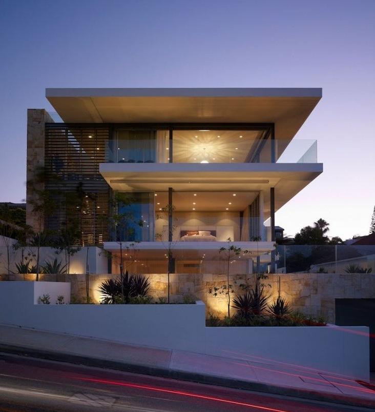 Fachadas de casas modernas com vidros decorando casas for Fachadas contemporaneas para casas