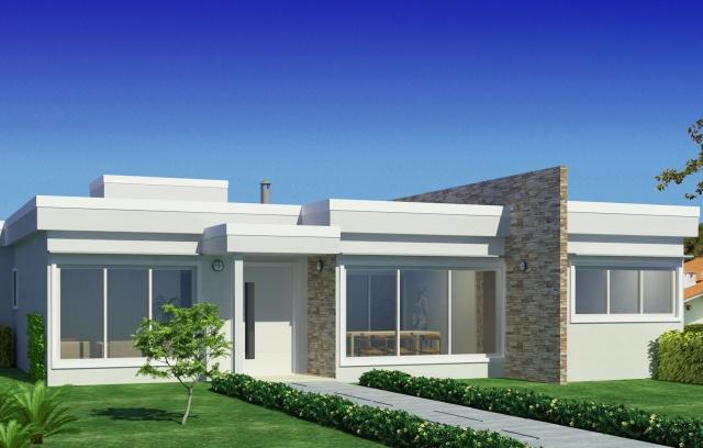 Fachadas de casas modernas com vidros decorando casas for Modelos de construccion de casas modernas