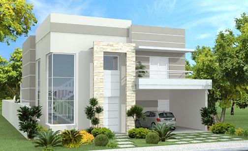 fachadas de casas modernas com vidros decorando casas