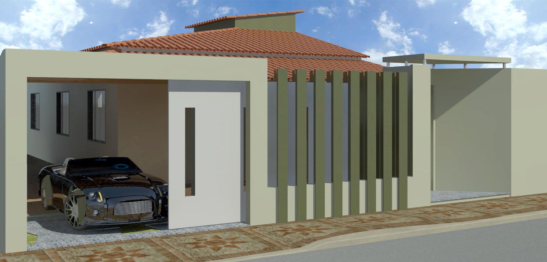 Fachadas de casas modernas com muros fotos decorando casas for Fachadas casas modernas