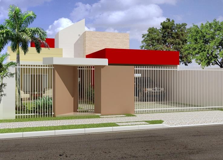 Muros e frente de casas fachadas tattoo design bild for Frente casa moderna