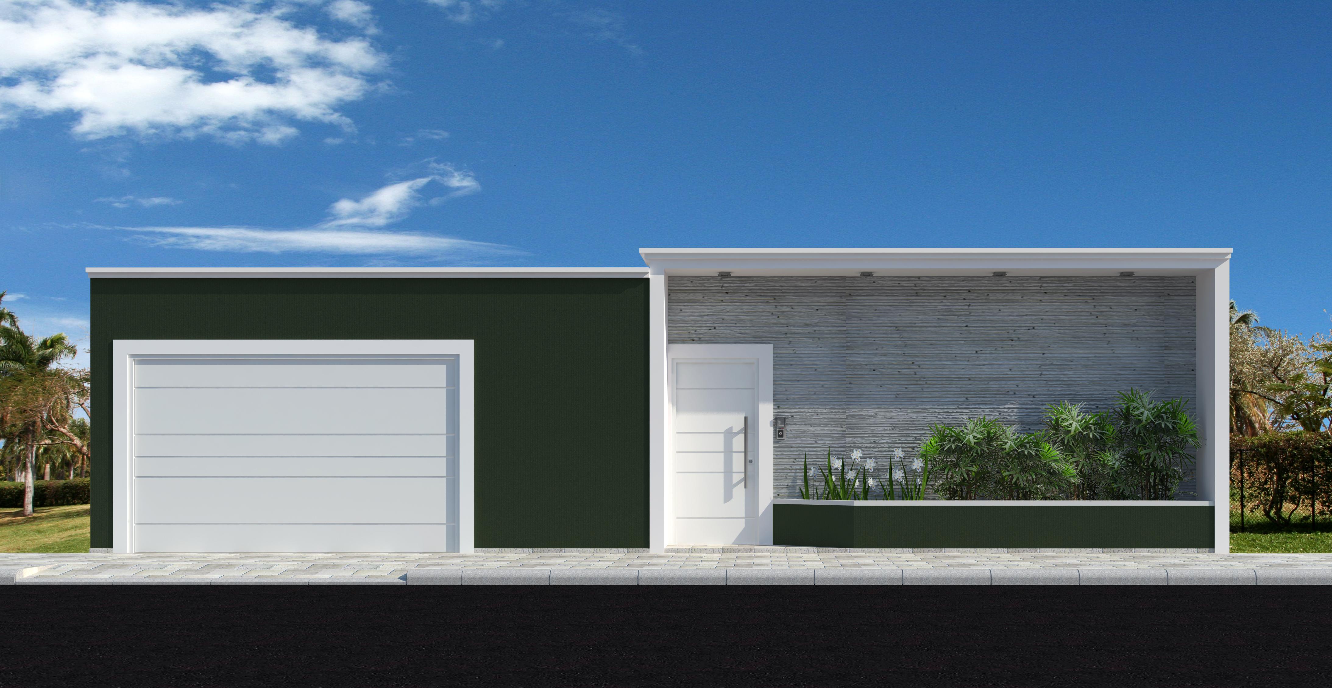 Fachadas de casas modernas com muros fotos decorando casas for Casas modernas fachadas bonitas