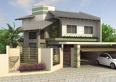 Fachadas De Casas Modernas Com Muros Fotos Decorando Casas