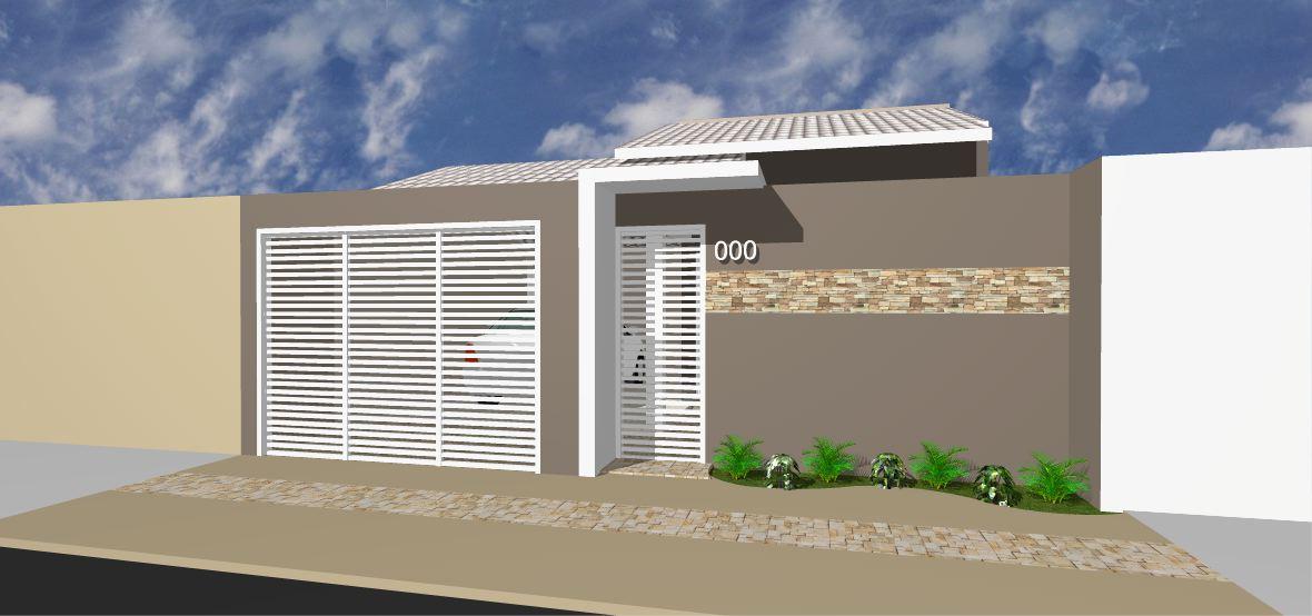 Fachadas de casas modernas com muros fotos decorando casas for Modelos de fachadas para casas