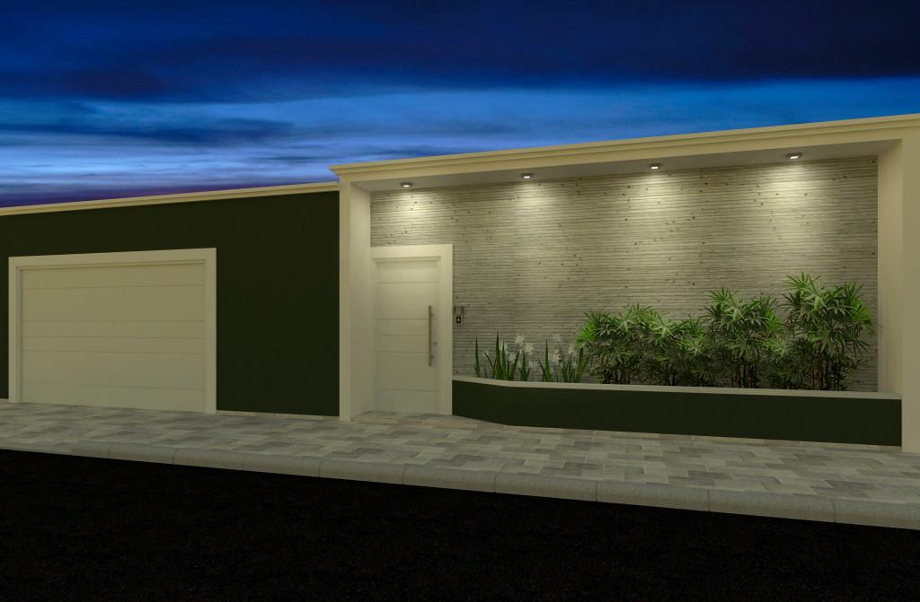 Fachadas de casas modernas com muros fotos decorando casas - Fachadas de piedra modernas ...