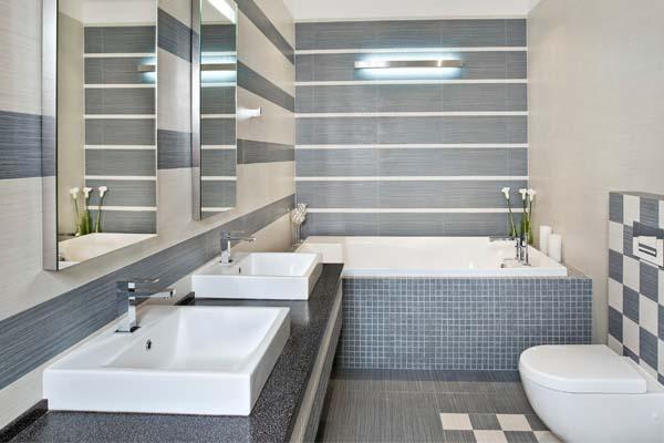 Revestimento para banheiros modernos e pequenos fotos  Decorando Casas # Banheiro Moderno Revestimento