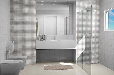 Revestimento para banheiros modernos e pequenos fotos for Pisos pequenos modernos
