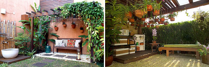 decorar meu jardim:Dicas de decoração de Jardim rústico fotos