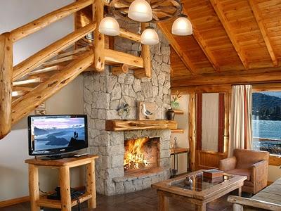 Decora o de casas de campo simples e pequenas decorando for Escaleras interiores casas rusticas